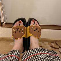 新款棉鞋女平底豆豆加绒加厚休闲家居保暖月子鞋妈妈防滑棉鞋2019