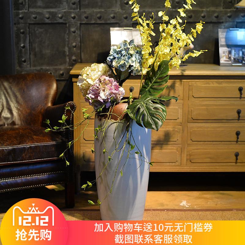 景德镇 陶瓷 落地 花瓶 饭店 酒店 售楼部 样板间 插花 摆件
