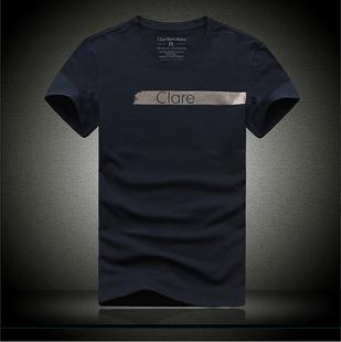 2019香港专柜正品男装T恤莱卡棉修身款韩版 日系T恤潮货号:ck19