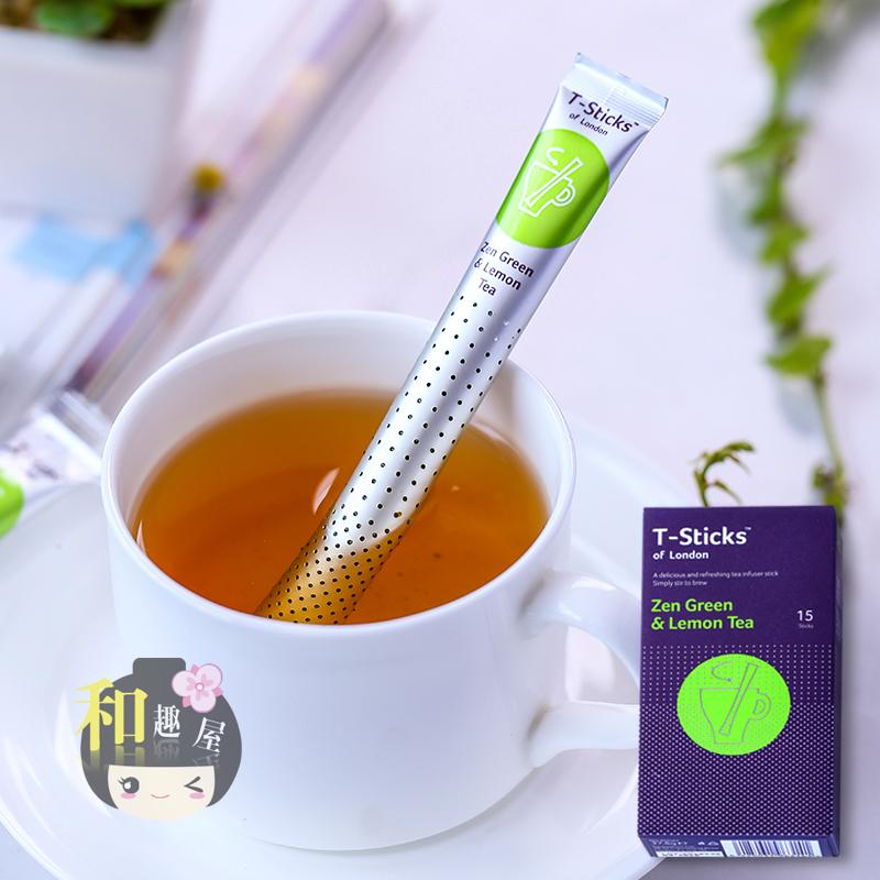 和趣屋英国T-Sticks綈斯珂首相爱喝柠檬绿茶棒绿茶茶包送女生 194