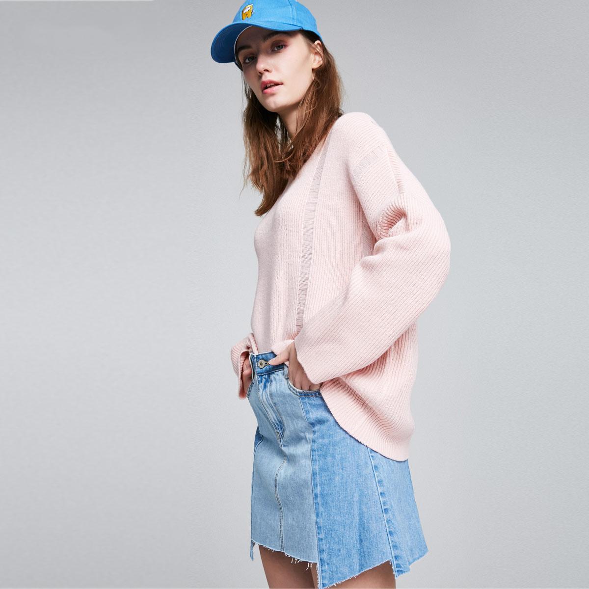 ONLY夏季新款宽松不规则底摆牛仔半身裙|117137502