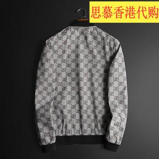LЕLVЕGUCCIЕL男装2020字母刺绣外套男士韩版棒球领青年夹克潮