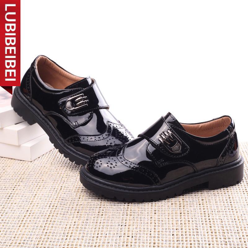 2017春季新款童鞋男童皮鞋儿童学生演出鞋黑色皮鞋休闲鞋英伦单鞋