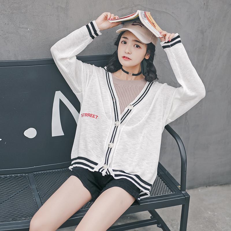 手慢无 针织小开衫女薄款短款夏季新款韩版长袖学生空调衫小披肩