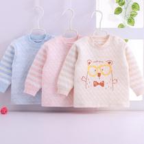 婴儿秋衣幼儿单件上衣新生儿纯棉衣服保暖长袖秋冬季0男1童2女3岁