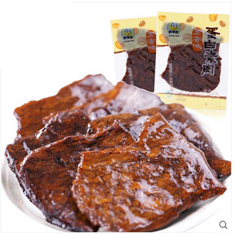 1份210克 来伊份 蛋白素肉 素牛肉 素食唐僧肉 2份420克包邮