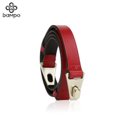 Bampo Banpo decorated brand new genuine suede leather ladies fashion belt belt leather