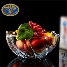 特价捷克波西米亚原装进口无铅水晶玻璃现代家居 果盘 果斗水果盆