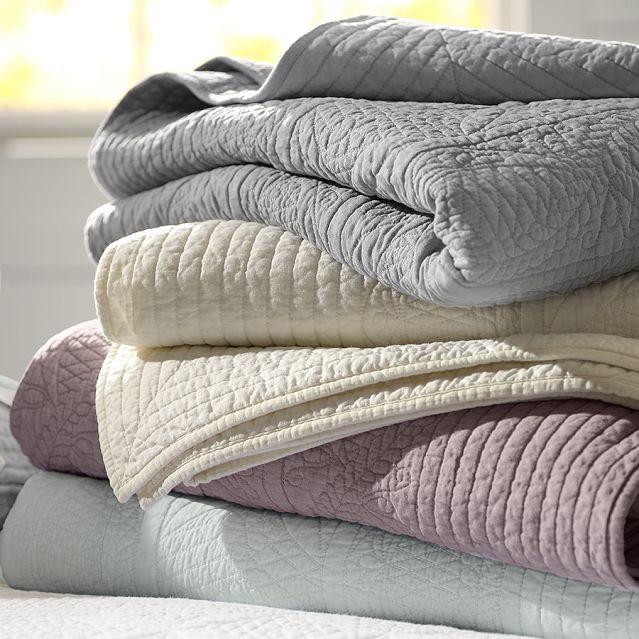 秋冬纯色加厚可机洗全棉欧式春秋被单件 纯棉绗缝被床盖三件套