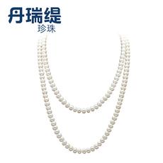 丹瑞缇珍珠 凸显气质 经典长款珍珠项链 8-9mm 近圆长项链毛衣链