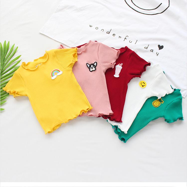宝宝短袖T恤夏季婴儿童上衣1-2-3岁4女童打底衫夏装半袖韩版汗衫