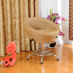 Swivel rattan products rattan furniture rattan chair computer chair office chair Guangdong armchair residential handmade rattan furniture