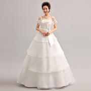 2015 new style wedding dresses bride lace bandage lace skinny Korean fashion line in spring and summer