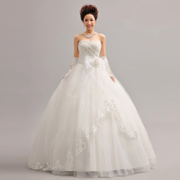 2015 together with purple new bandages Korean bow studded wedding flowers bride wedding dresses