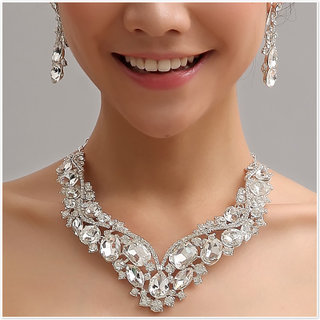 New wedding dress accessories from high-end jewelry Necklace Earring jewelry chain necklace necklace XXL064-