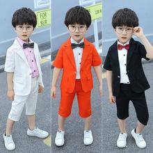 男童男宝宝夏装英伦韩款(小)童套装男宝si14西装夏ai儿童礼服