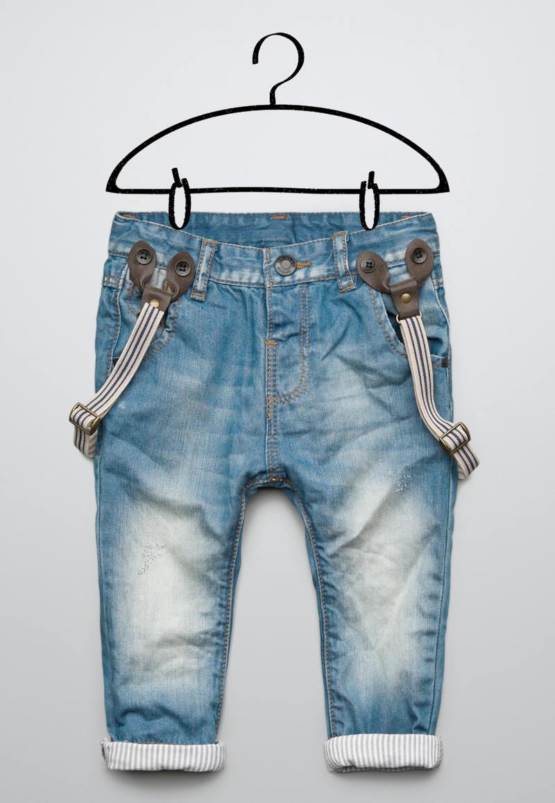 Как сделать подтяжки на джинсы