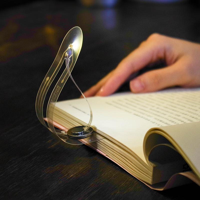 抖音同款LED书签灯 可爱小清新学生女创意护眼发光小夜灯文具用品