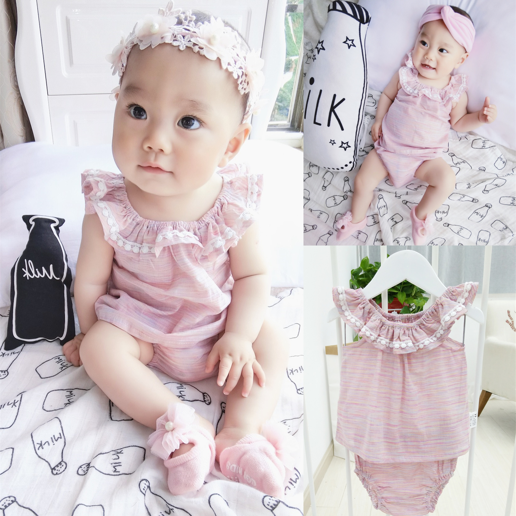 Baby cotton skirt suit baby dress shorts 0 1 2 years 6 months girls