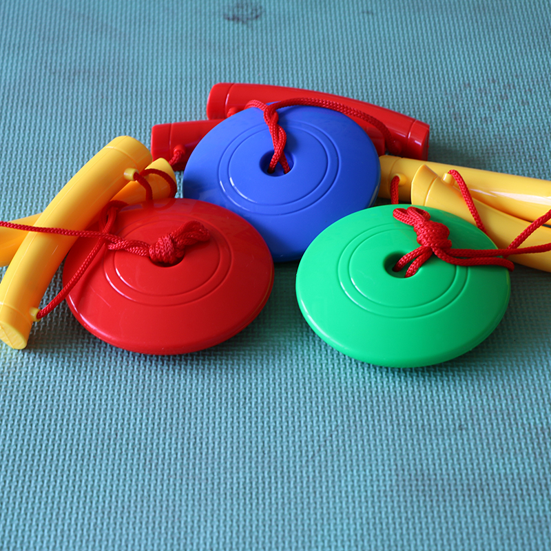 幼儿园拉力球玩具 健身锻炼手臂 儿童拉力器 超大运动拉力盘特价