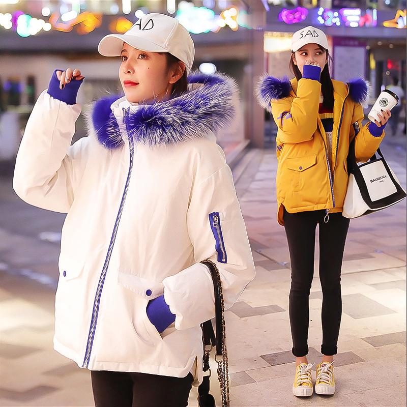 2018新款韩版羽绒棉服女短款学生宽松bf棉衣女面包服棉袄加厚外套