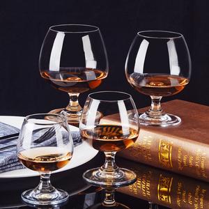 创意白兰地酒杯高端水晶玻璃洋酒杯矮脚红酒杯威士忌酒杯家用杯子
