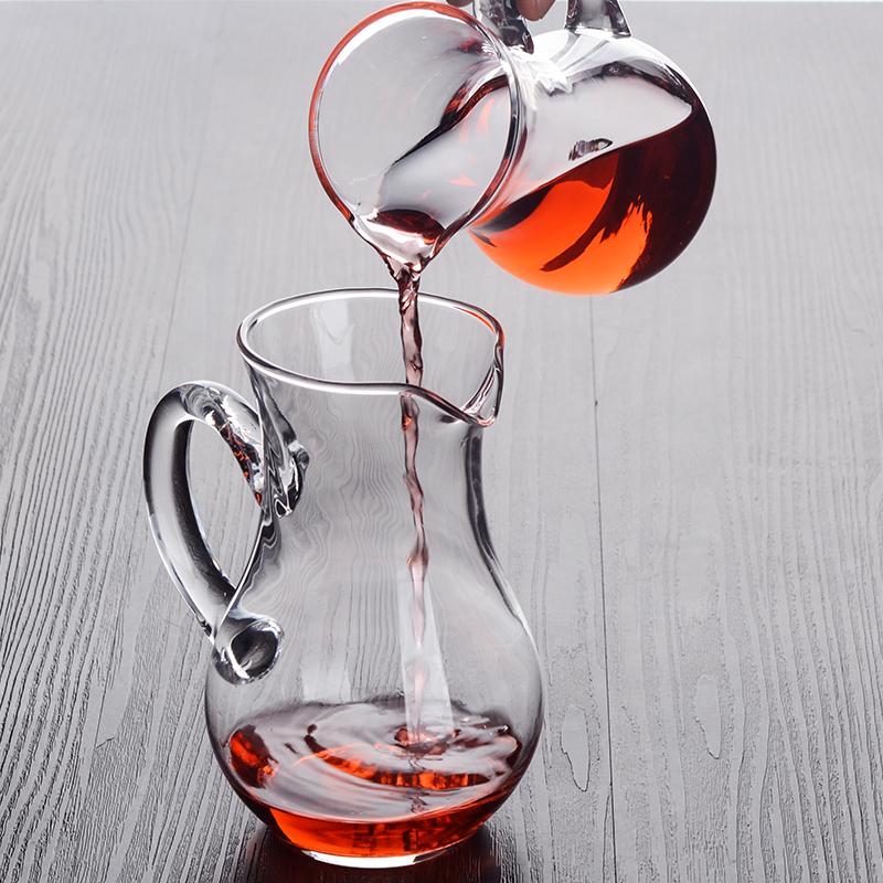 加厚玻璃白酒分酒器创意家用洋酒红酒醒酒器小号扎壶饭店酒吧专用