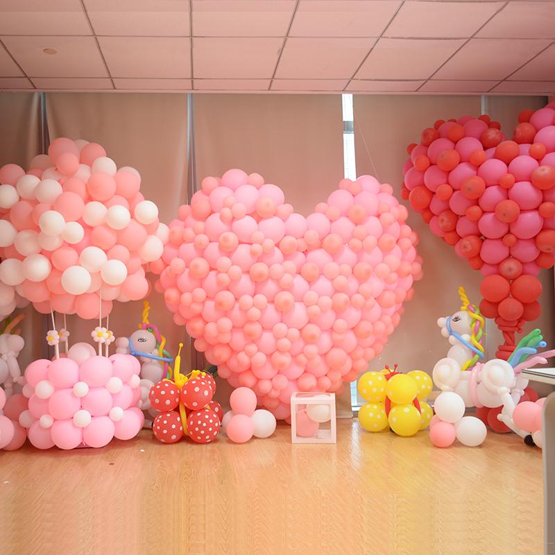 2020节日亚光气球批�l结婚礼装饰婚房布置婚庆派对儿童告白生日店