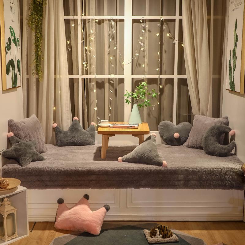 飘窗垫子窗台垫套卧室定做简约现代装饰阳台垫子榻榻米坐垫毯防滑
