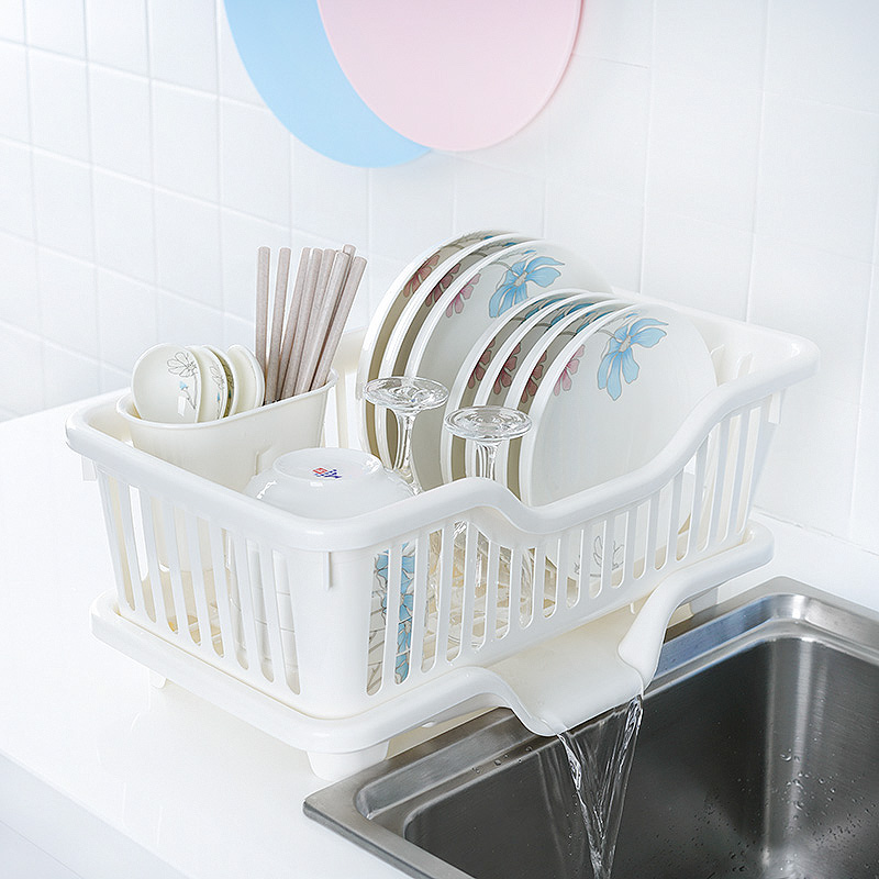 日本沥水碗架厨房碗碟架沥水架塑料漏水盘架沥碗架滤水晾放碗筷架
