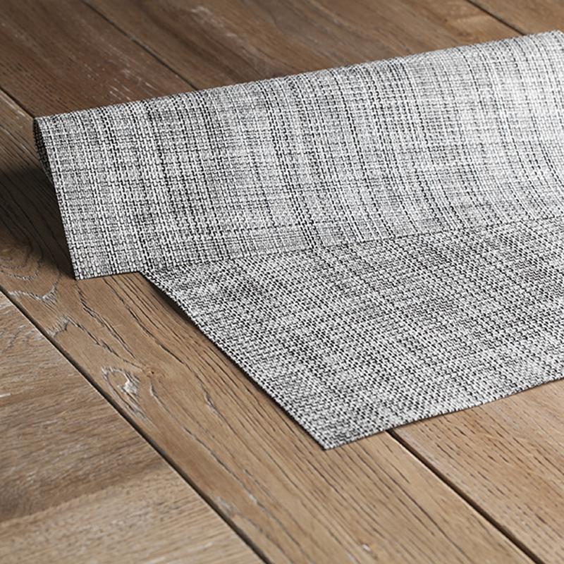 朵颐简约PVC麻质灰色盘碗杯碟隔热防水餐垫 家用餐厅西餐桌垫