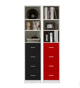 Simple modern bookcase bookcase combination with drawer bedroom small locker storage cabinet file cabinet custom narrow cabinet