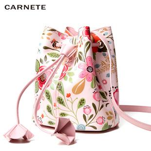 CARNETE简约水桶包女2017新款单肩大包包韩版手提包百搭斜挎包潮