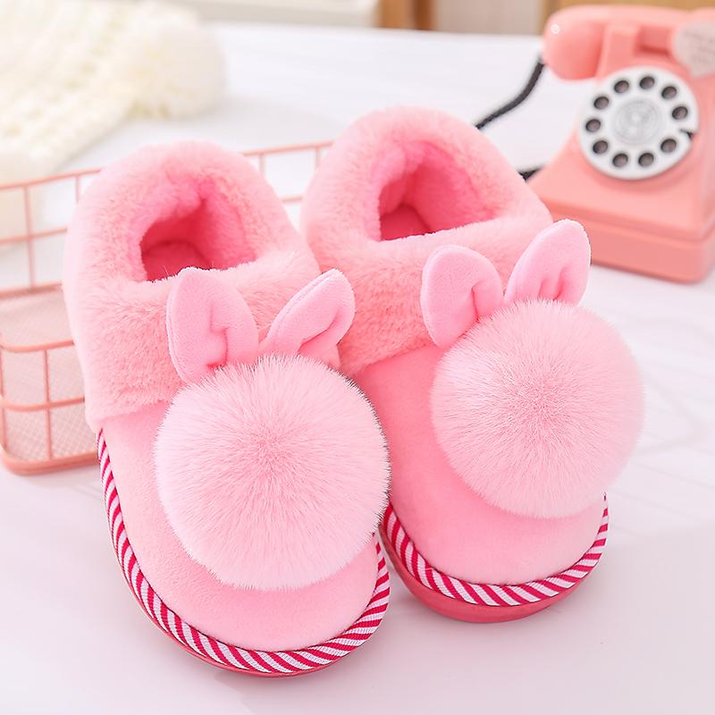 拖鞋冬儿童男女童卡通居家亲子鞋一家三口厚底保暖包跟宝宝棉拖鞋