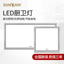 600450300廚房衛生間鋁扣板嵌入式平板吸頂燈具燈led集成吊頂