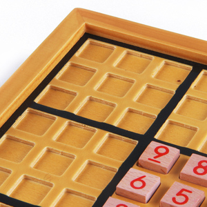 Wooden square chess sudoku chess Children's educational toys adult intelligence desktop chess game parent-child over 5 y