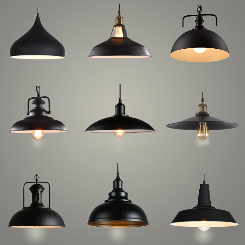 美式复古工业风单头铁艺吊灯创意餐厅酒吧台漫咖啡厅网咖锅盖吊灯
