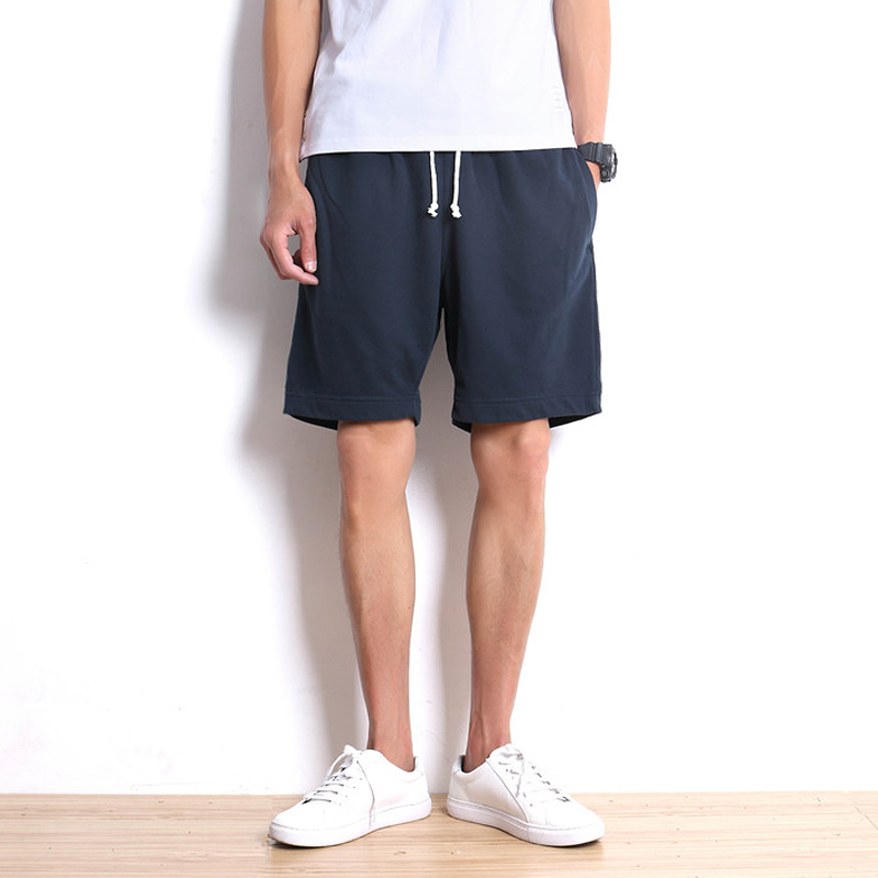韩版卫裤纯棉休闲短裤夏季日系男士运动晨跑健身针织宽松大码裤头