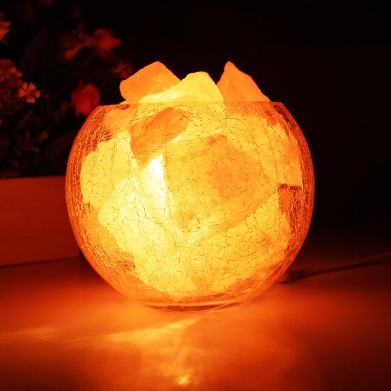 水晶盐灯 喜马拉雅欧式装饰小台灯创意时尚卧室温馨婚庆床头夜灯-艾纳盐灯工坊