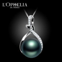 LOPHELIA the French Tahiti Black Pearl Necklace Pendant sends his wife to his girlfriend to give his mother a gift of love.