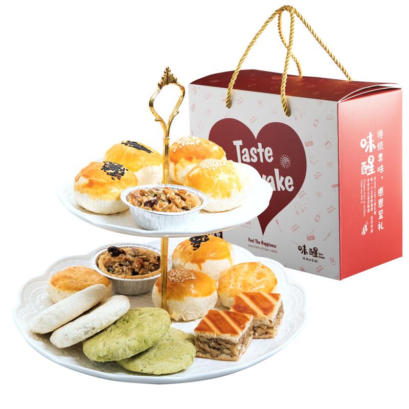 【味醒大礼包】中式糕点年货礼盒含蛋黄酥枣泥饼绿豆饼团拜伴手礼