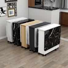 折叠餐桌家用小户型可移动带轮可伸缩长方形简易多功能吃饭小桌子