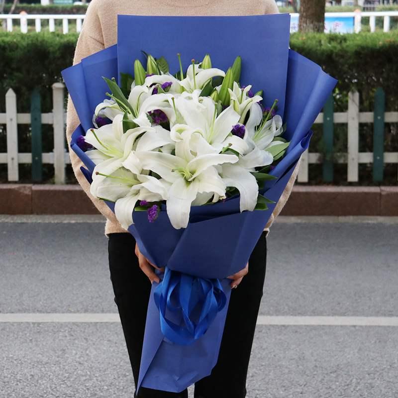 長沙香水百合花鮮花速遞花束禮盒芙蓉嶽麓開福雨花同城生日送花店