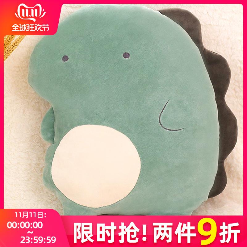 恐龙玩偶可爱生日礼物暖手毛绒玩具床上陪你睡觉抱枕超软猪小公仔