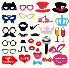 Marriage birthday party decoration supplies game funny photo props birthday party venue decoration beard props