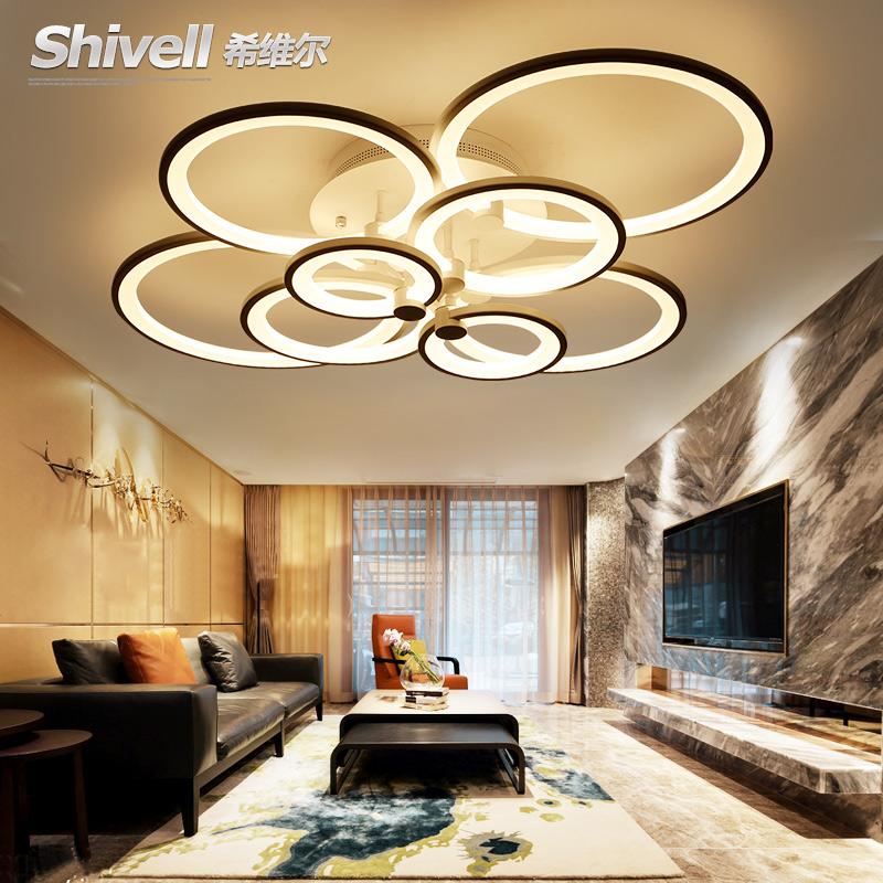 客厅灯简约现代大气家用灯具创意圆形led吸顶灯温馨浪漫主卧室灯