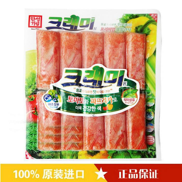 5袋包邮 韩国韩星蟹肉棒限时第一袋优惠 即食凉拌火锅寿司蟹柳180