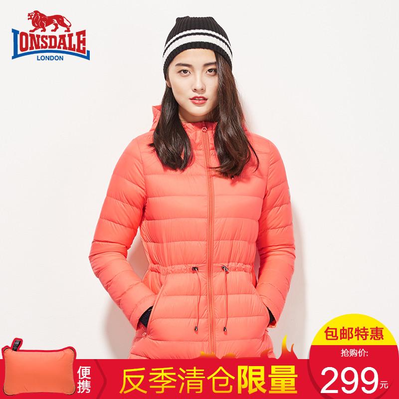 龙狮戴尔羽绒服女短款轻薄大码韩版秋冬新款连帽修身防风保暖外套