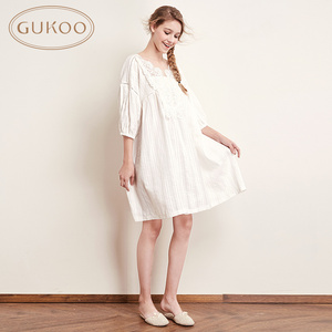 Nutshell nightgown female Summer full cotton spring and autumn Princess lace nightgown summer nightgown sweet lady night