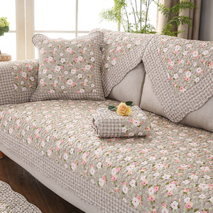 Four seasons cotton sofa cushion fabric simple modern solid wood cotton summer leather sofa cushion winter sofa towel